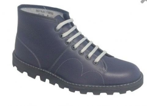 Grafters Leather Upper Navy Monkey Boot